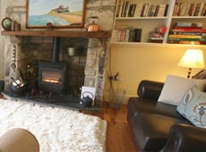 Lounge at Eider Self-catering Cottage in Warren Mill, Northumberland, UK